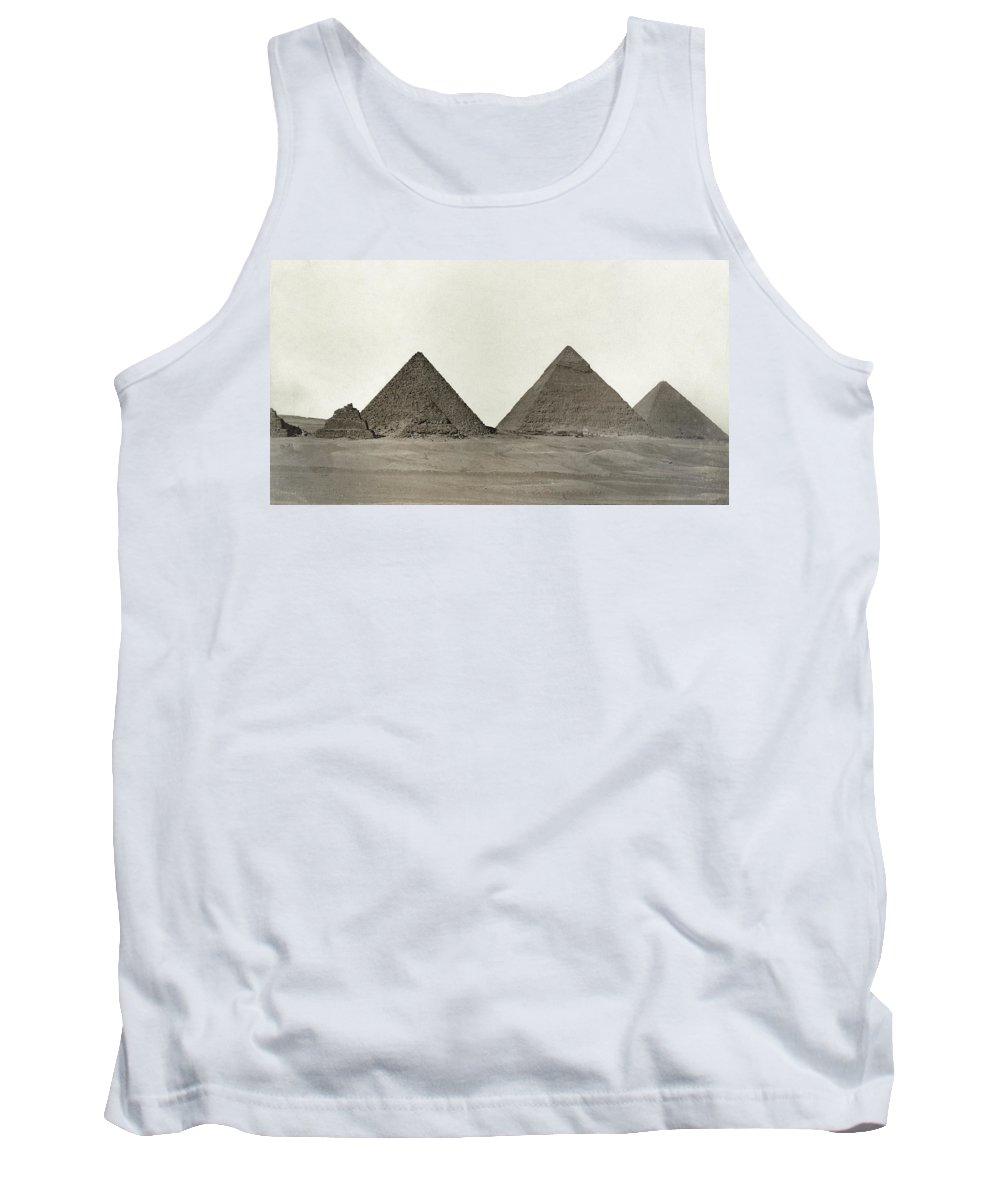 Egypt Tank Top featuring the photograph Great Pyramids by Granger