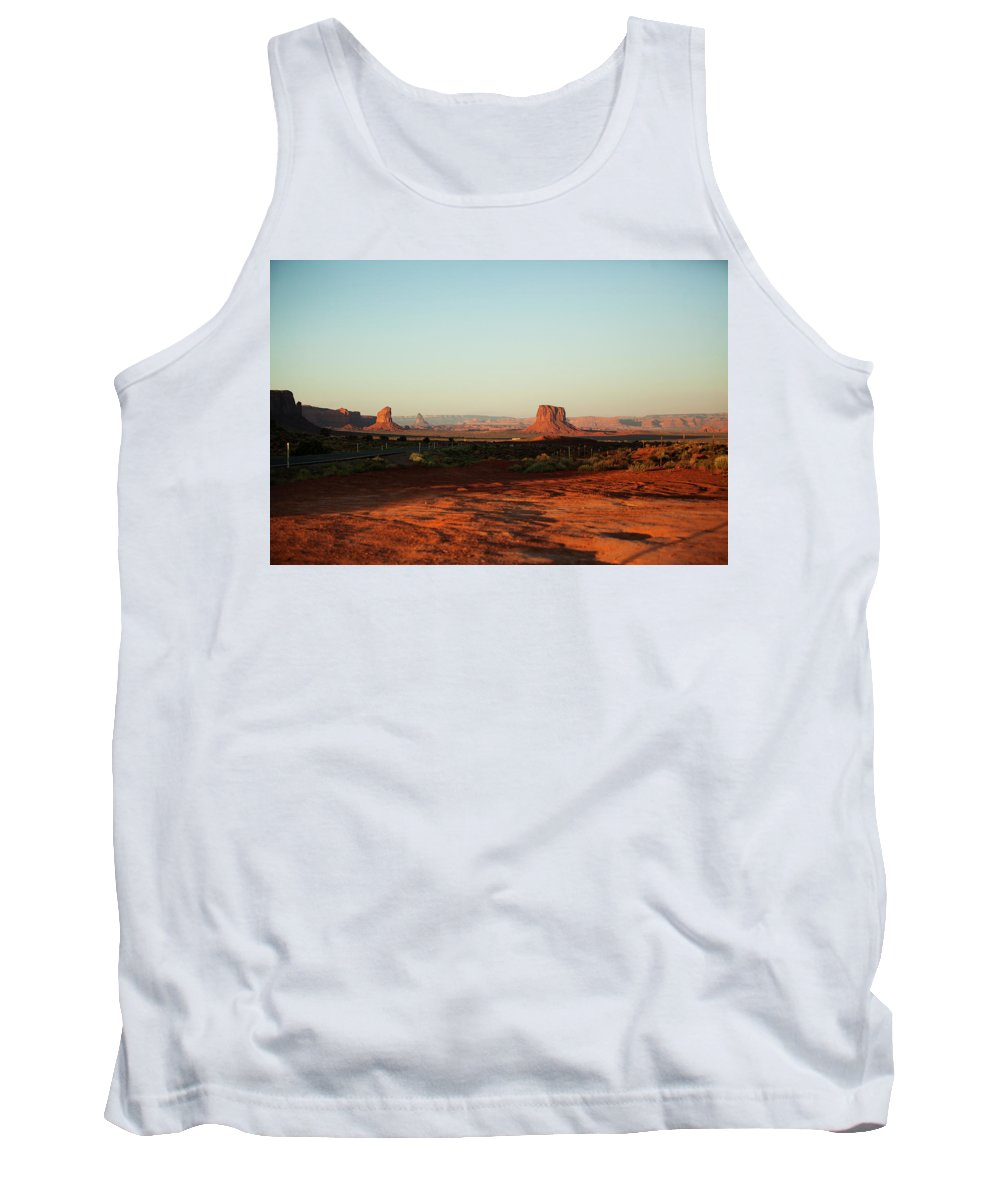 Grey Whiskers Tank Top featuring the photograph Grey Whiskers And Mitchell Butte by Warren Still