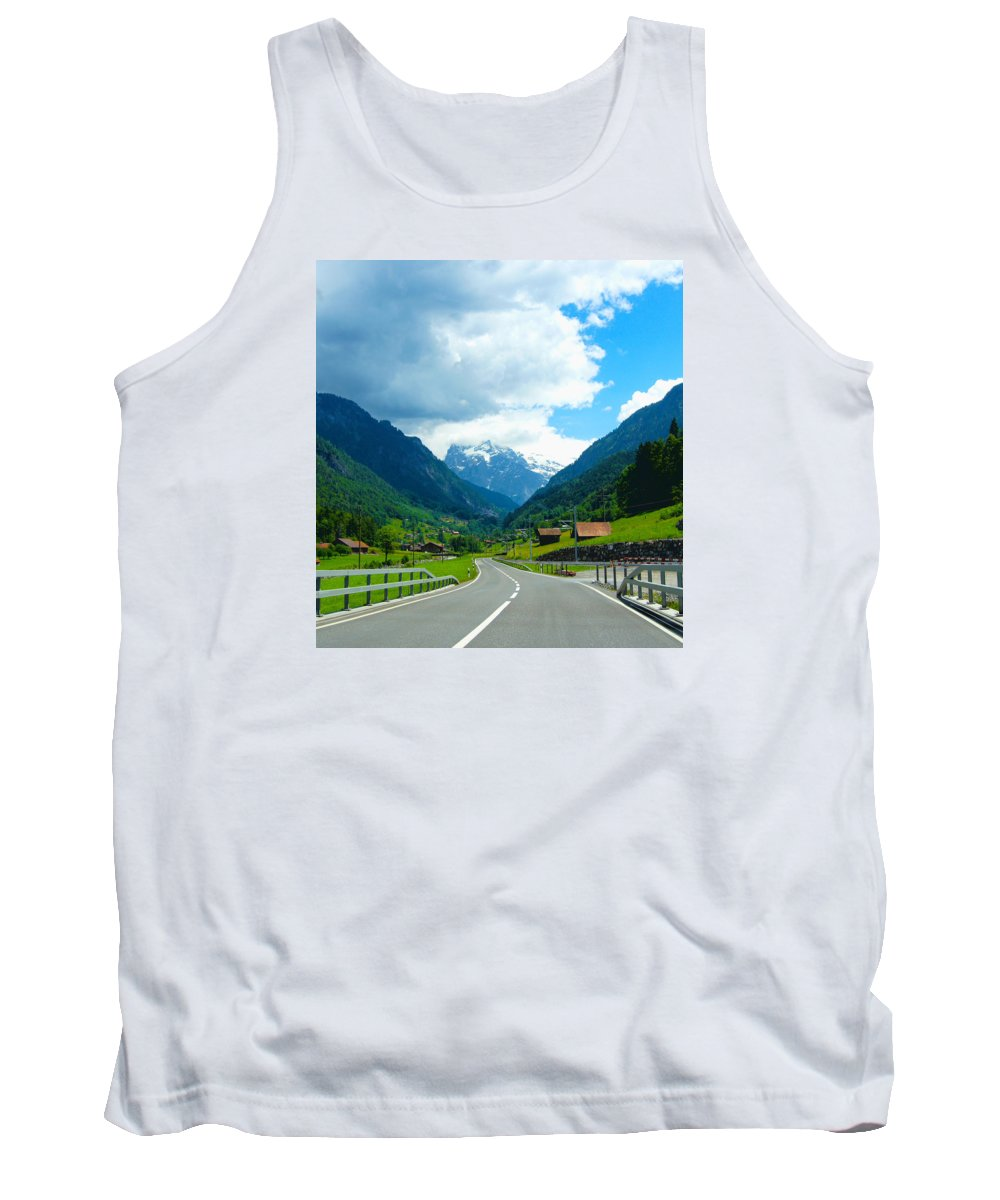 Landscape Tank Top featuring the painting Grindelwald, Switzerland by Farah