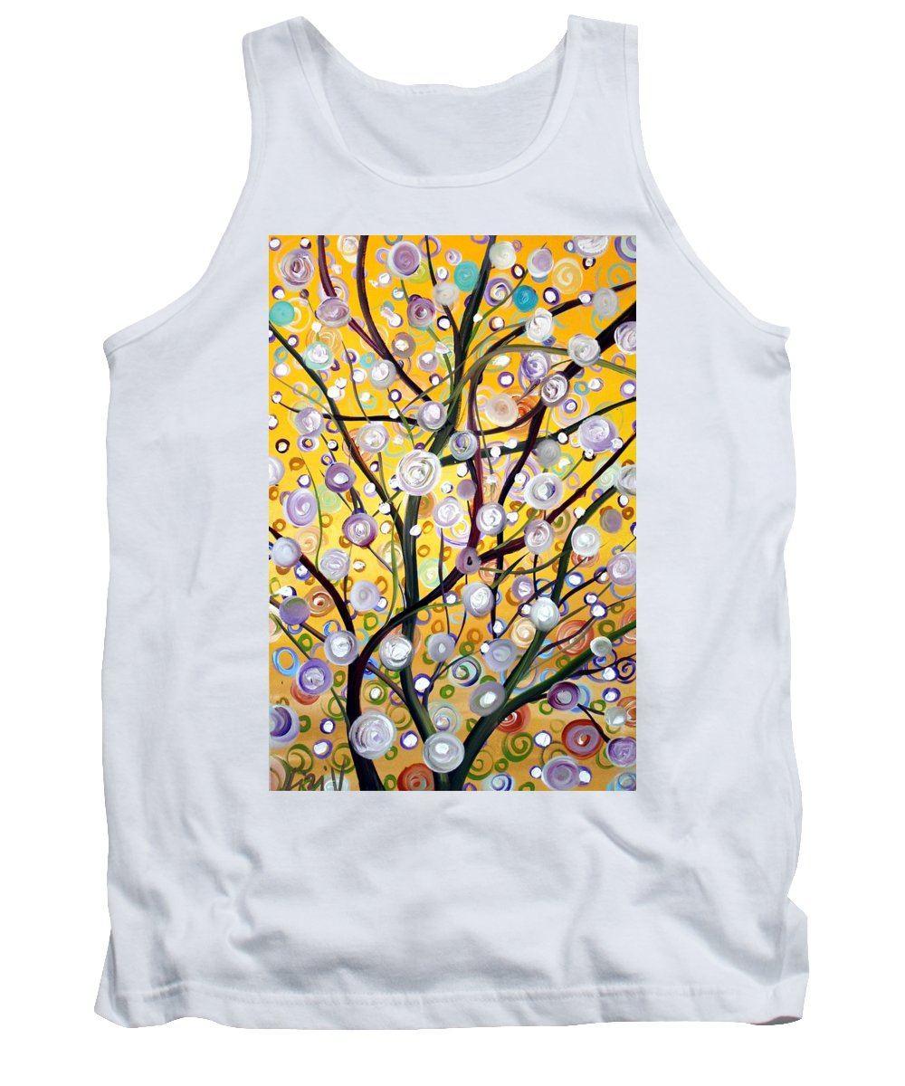 Landscape Tank Top featuring the painting Growing Together by Luiza Vizoli