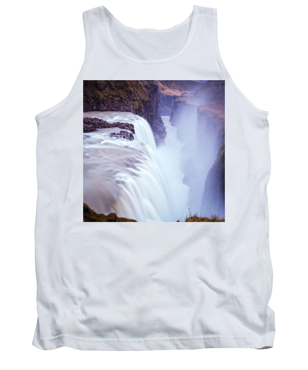 Iceland Tank Top featuring the photograph Gullfoss 8 by Ingrid Smith-Johnsen