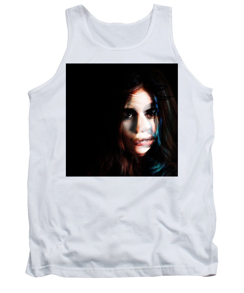 Tank Top featuring the painting Gwen. You Are The Best by Maciej Mackiewicz