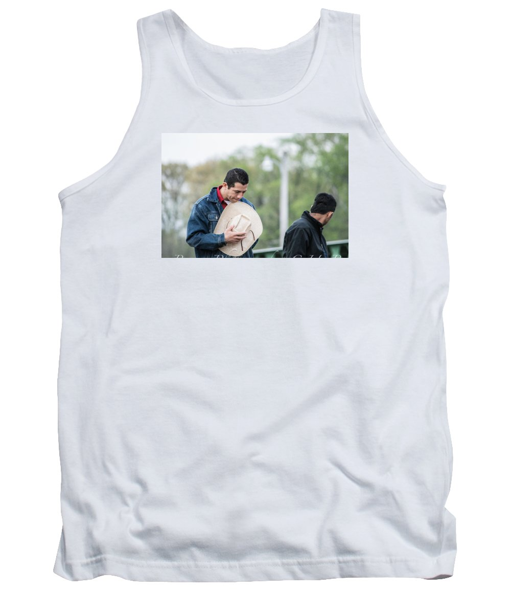 Orange & Blue Rodeo Tank Top featuring the photograph H by Terry Brown