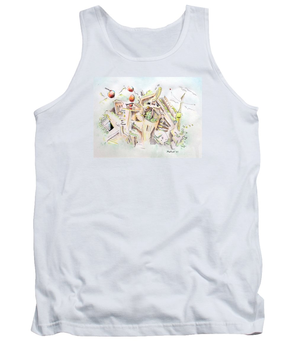 City Tank Top featuring the painting Habitat by Dave Martsolf