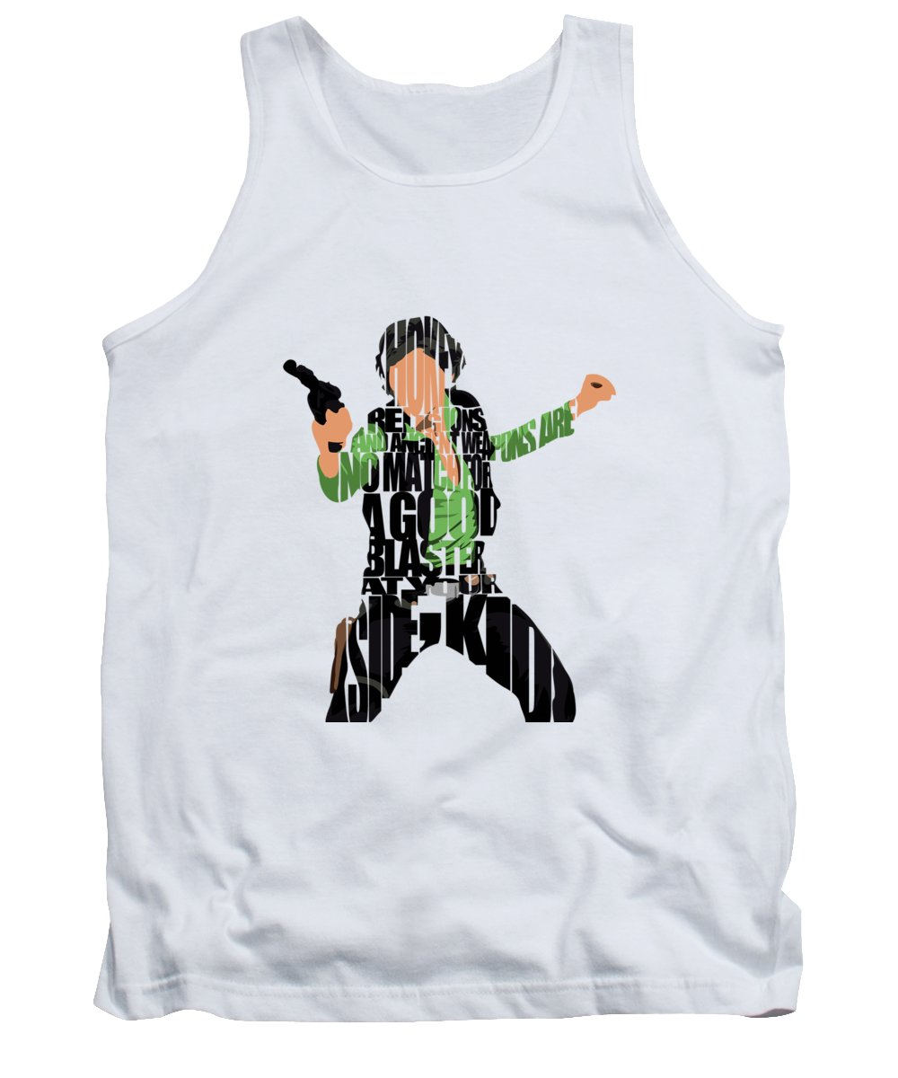 0c7ed68f54587 Han Solo Tank Top featuring the painting Han Solo From Star Wars by  Inspirowl Design