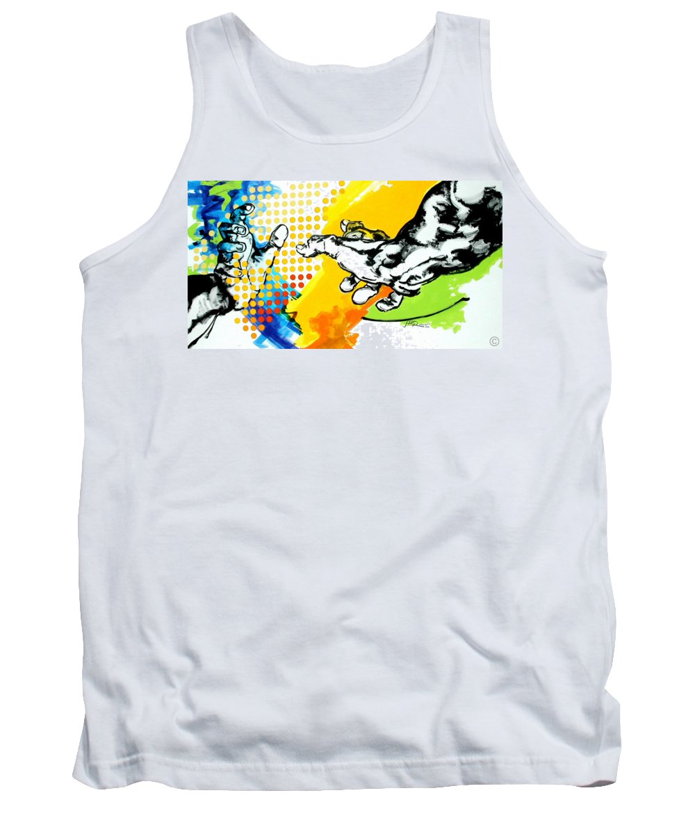 Classic Tank Top featuring the painting Hands by Jean Pierre Rousselet