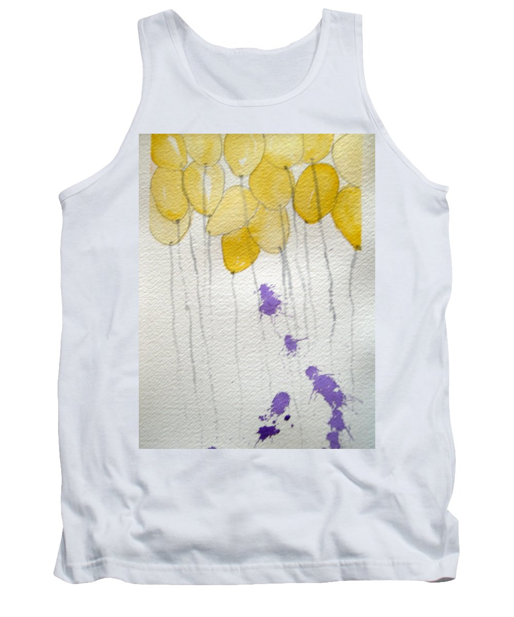 Balloon Celebrate Fun Happy Play Birthday Tank Top featuring the painting Happy Birthday Ashleigh by Patricia Caldwell