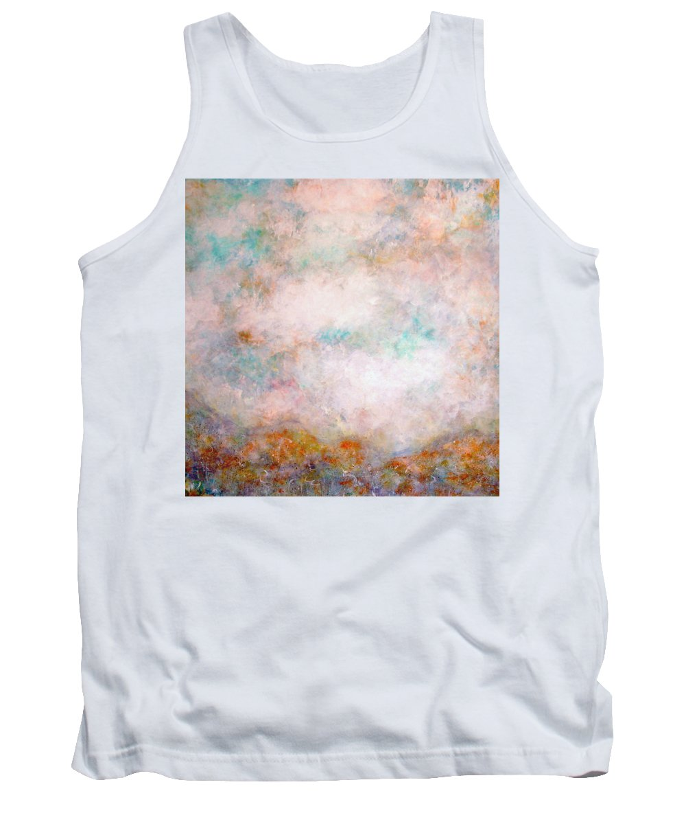 Clouds Tank Top featuring the painting Happy Dancing Clouds by Natalie Holland
