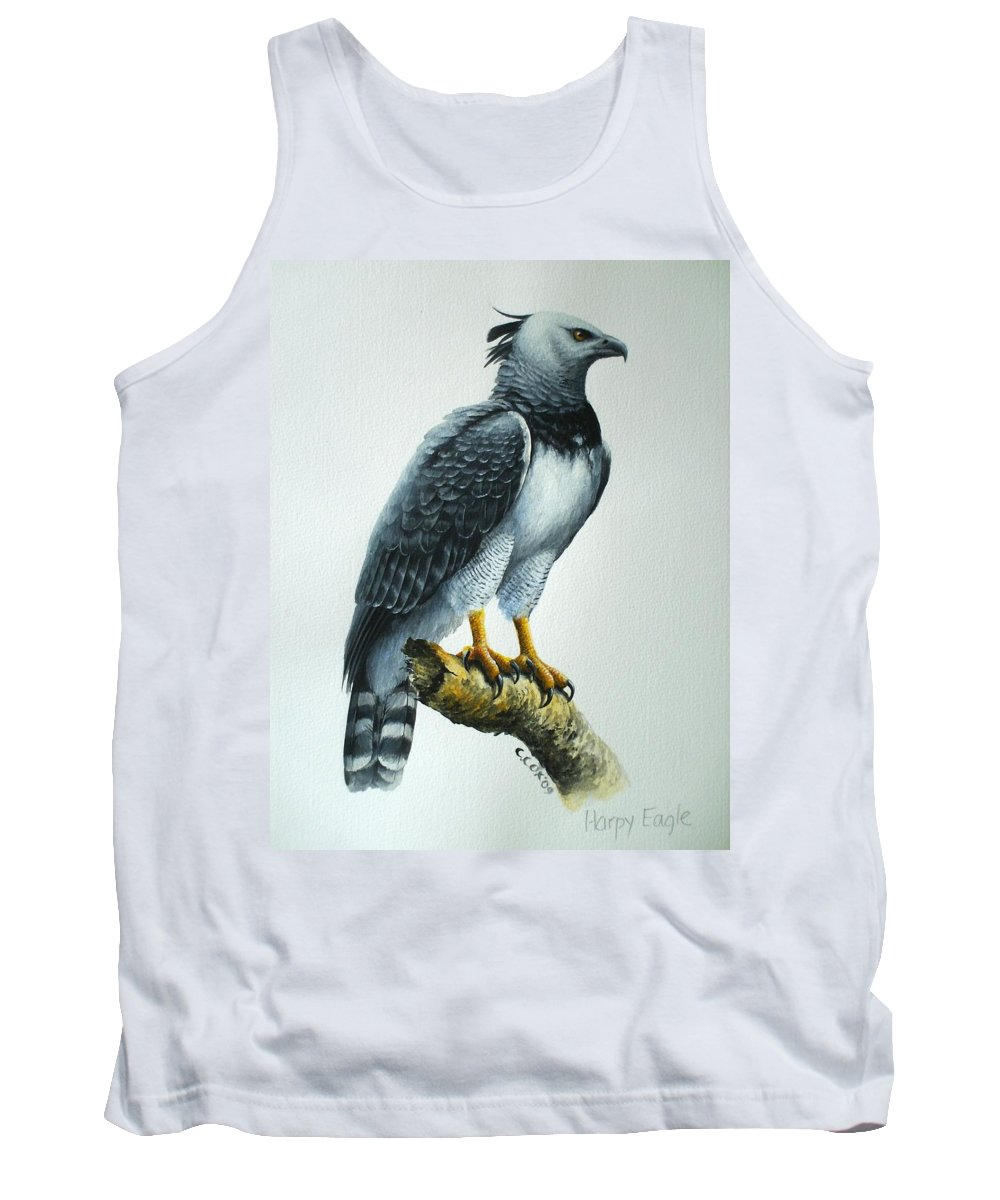 Harpy Eagle Tank Top featuring the painting Harpy Eagle by Christopher Cox
