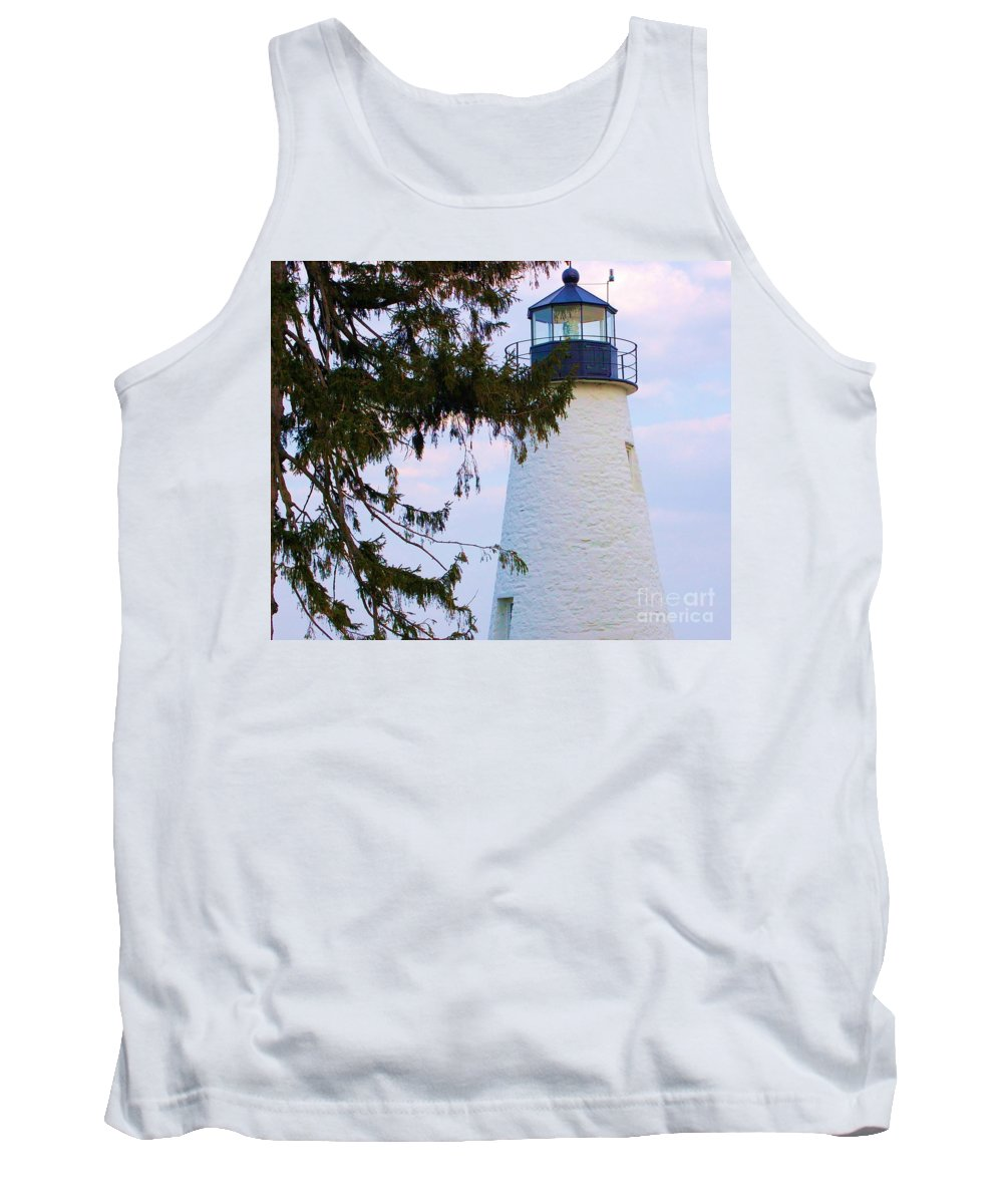 Lighthouse Tank Top featuring the photograph Havre De Grace Lighthouse by Debbi Granruth