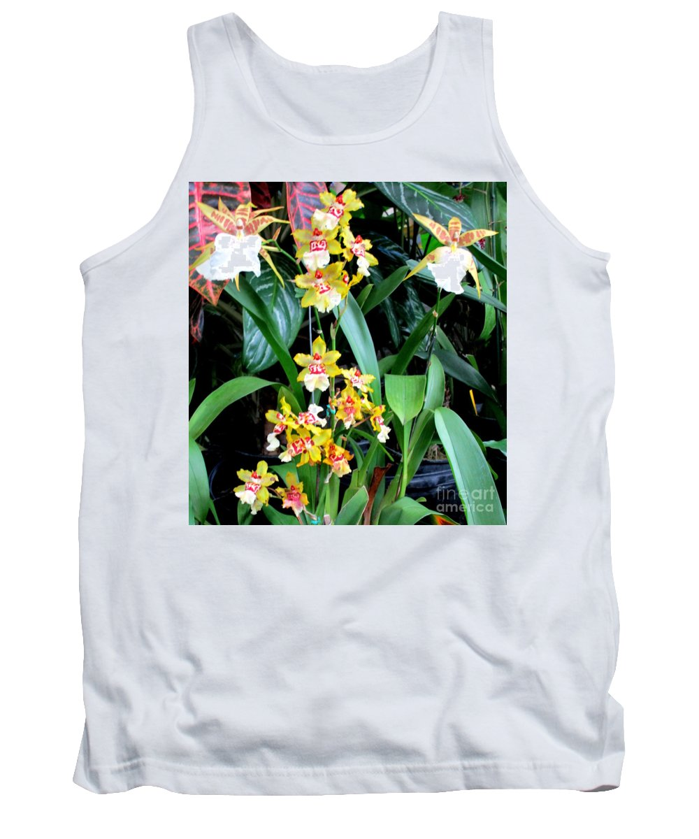 Orchid Tank Top featuring the photograph Hawaiian Orchid 36 by Randall Weidner
