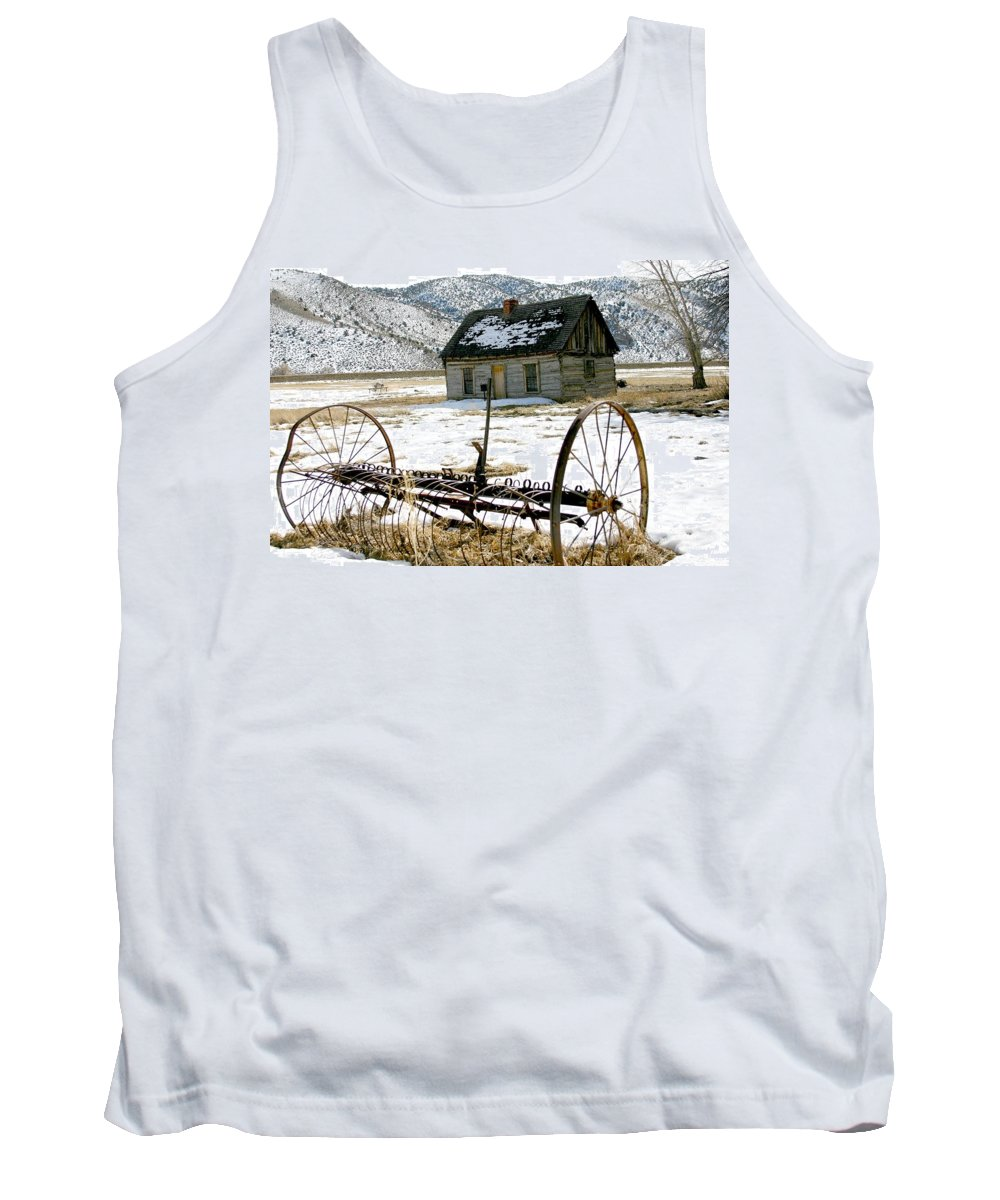Utah Tank Top featuring the photograph Hay Rake At Butch Cassidy by Nelson Strong
