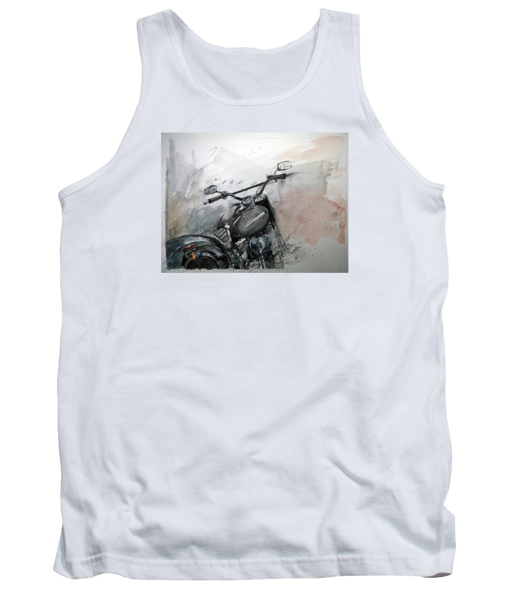Vintage Tank Top featuring the painting Hd Detail by Lorand Sipos