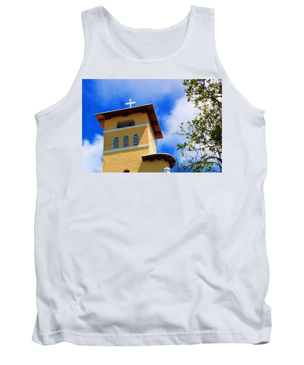 Cross Tank Top featuring the photograph Heads Up by Debbi Granruth