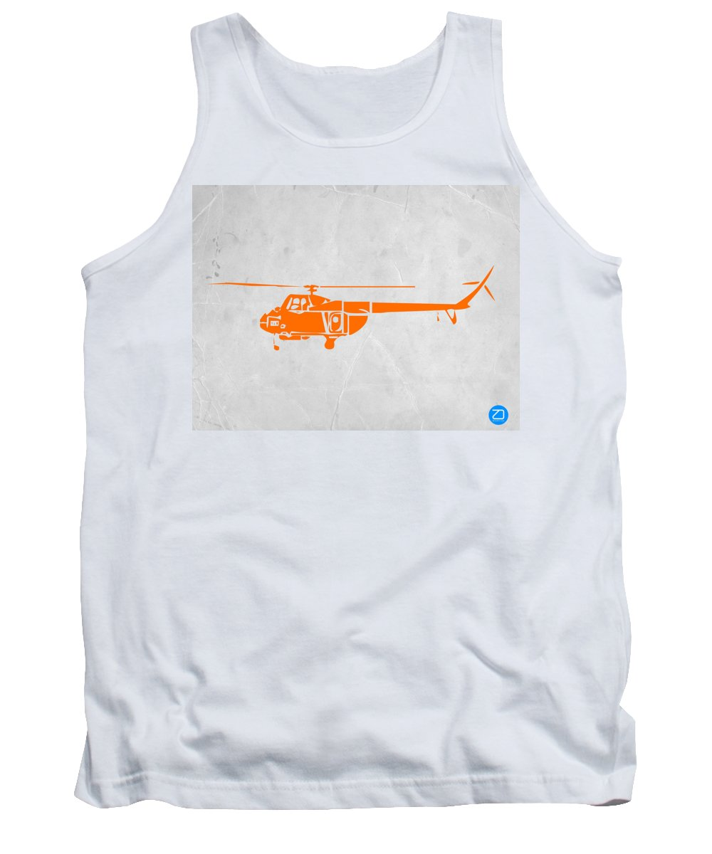 Helicopter Tank Top featuring the painting Helicopter by Naxart Studio