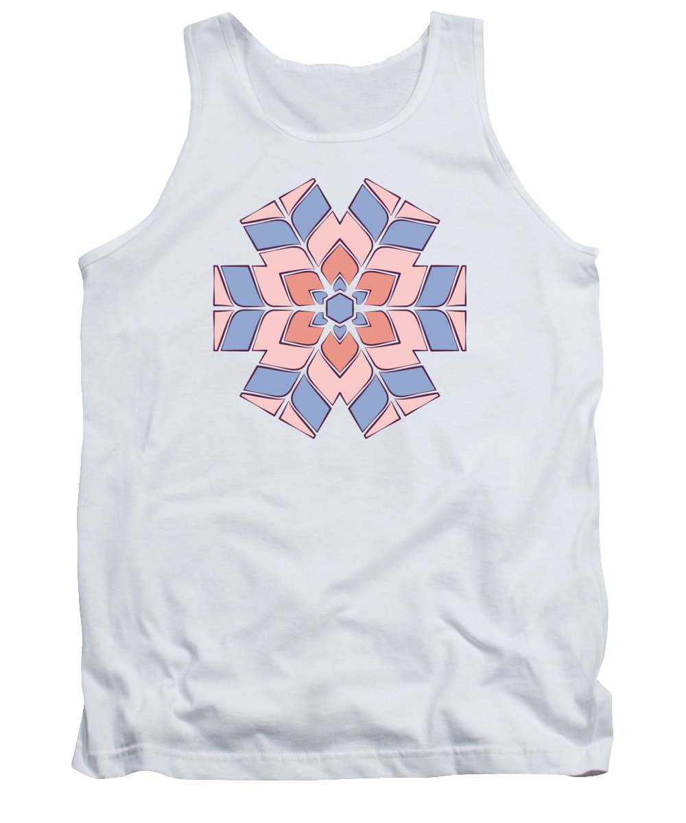 Rose Tank Top featuring the tapestry - textile Hexagonal Flower Pattern by Jozef Jankola