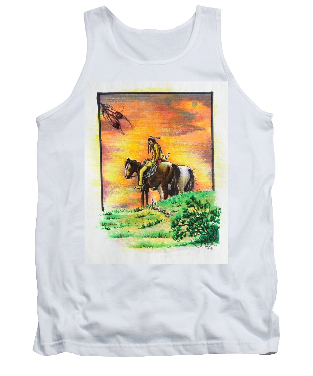 Native Tank Top featuring the painting Hi Lighter Pen Painting 2 by Jimmy Smith