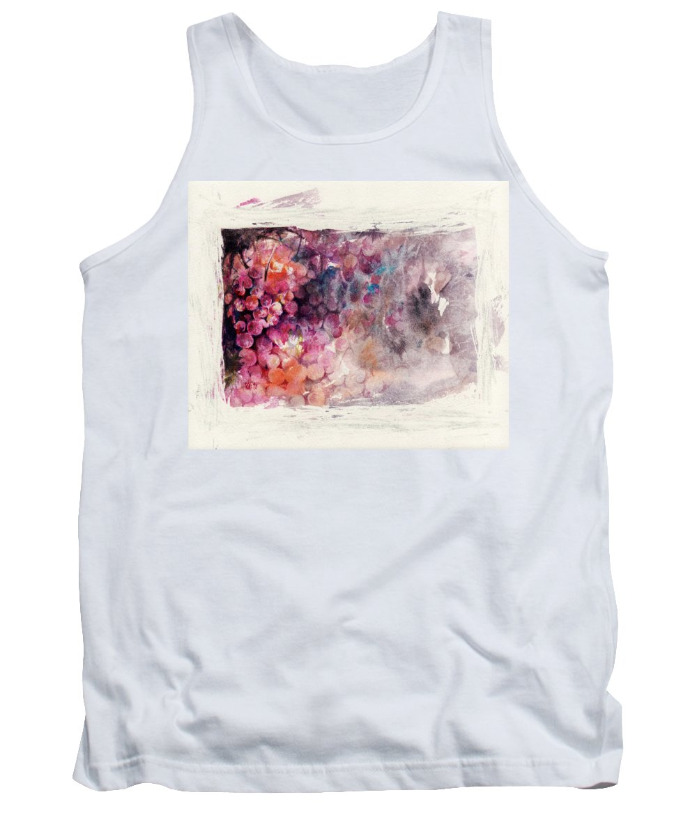 Grapes Tank Top featuring the painting Hidden Beauty by Rachel Christine Nowicki