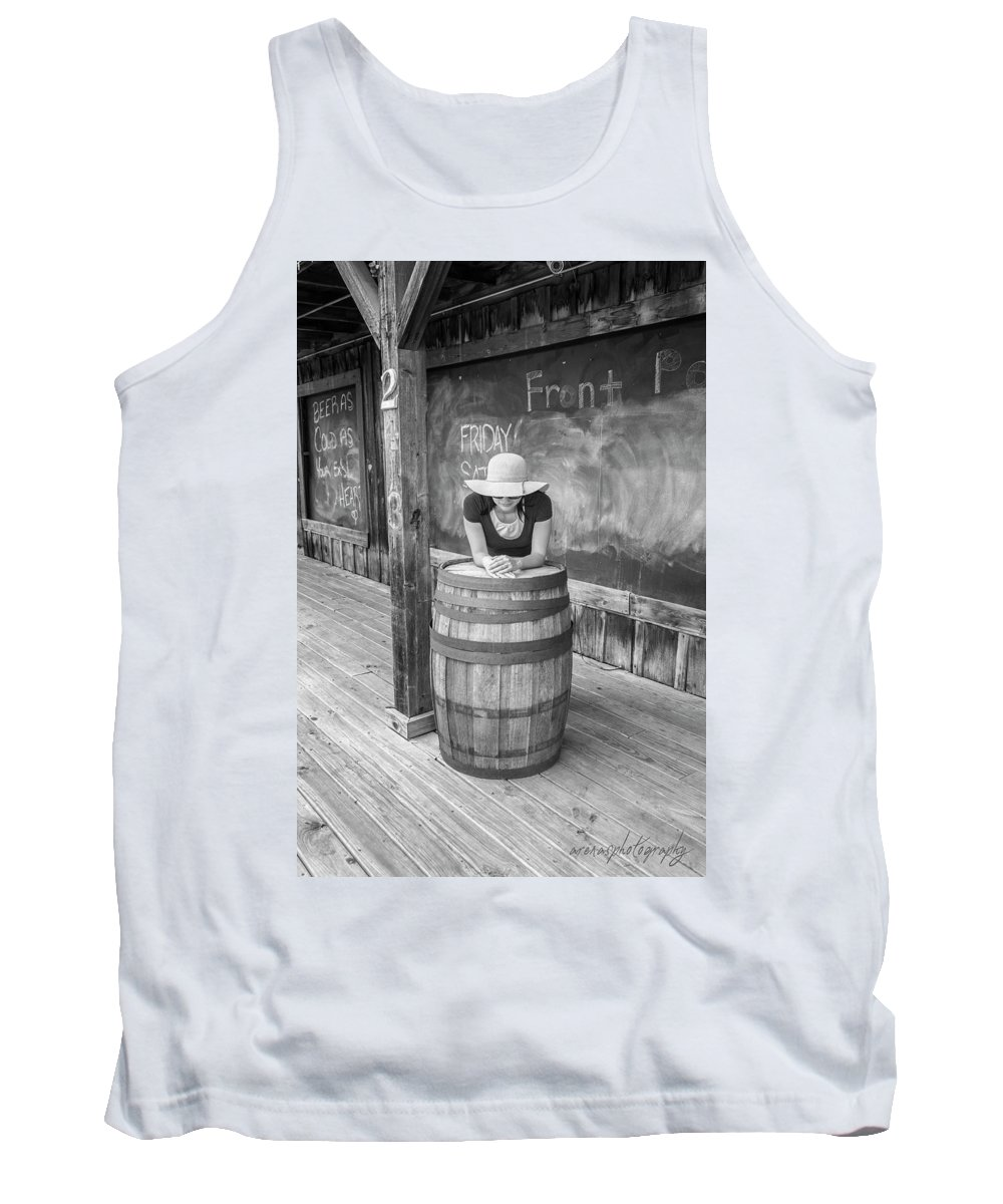 Barrel Tank Top featuring the photograph Hidden Face by William Arenas