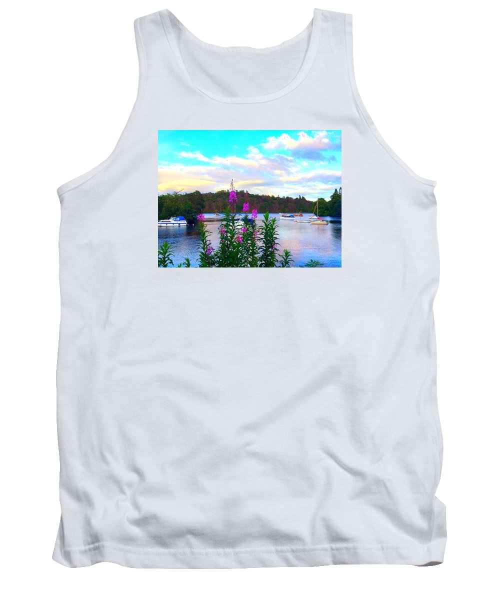 Boats Tank Top featuring the photograph Hiding Boats by Lisa Byrne