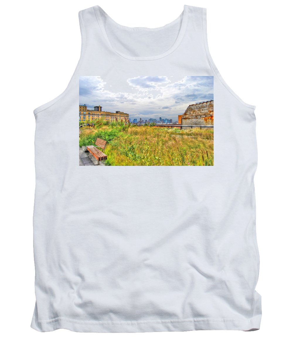 High Line Park Tank Top featuring the photograph High Line On The Hudson by Randy Aveille