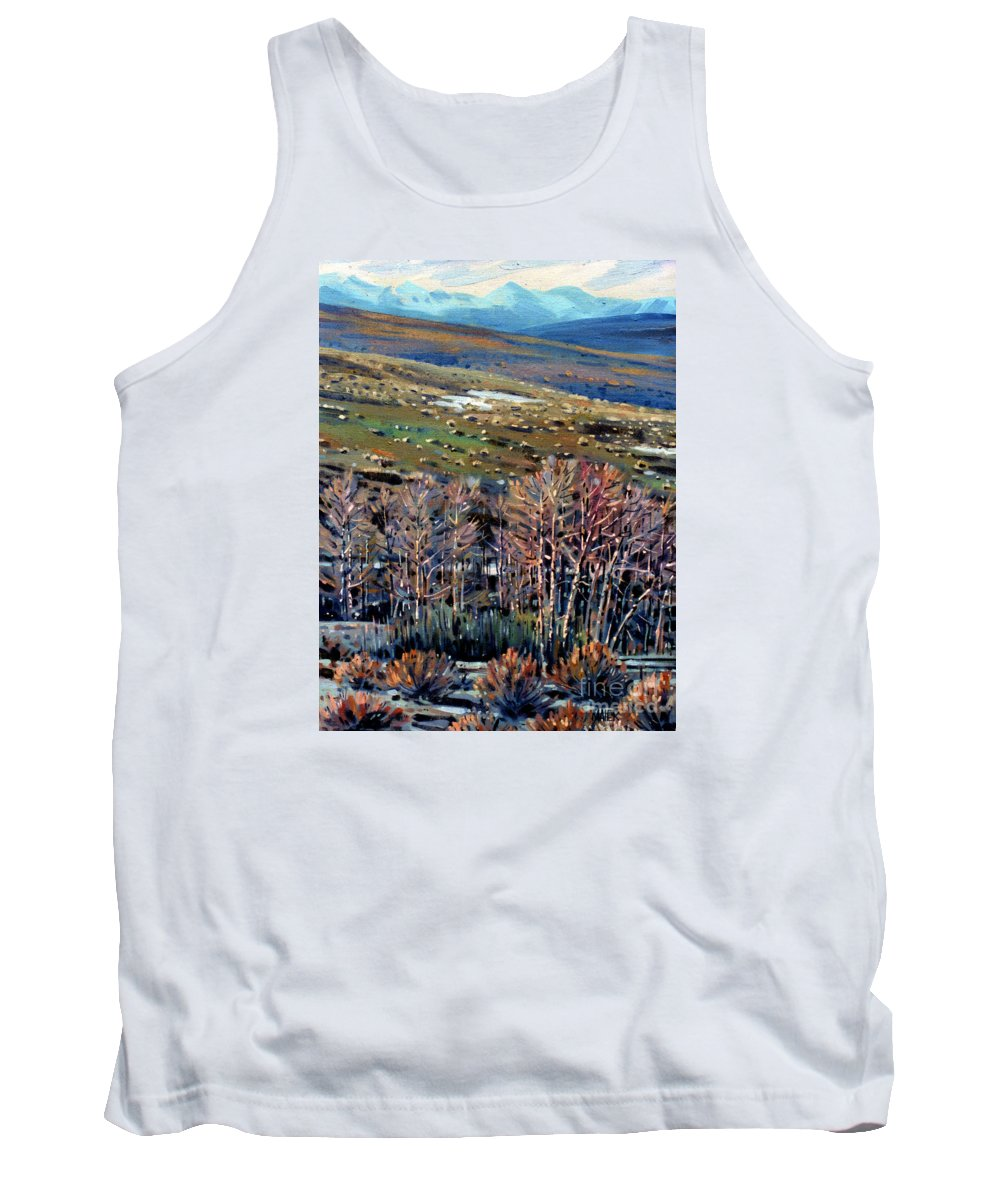 High Sierra Tank Top featuring the painting High Sierra by Donald Maier