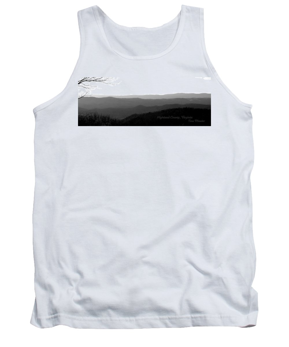 Highland Tank Top featuring the photograph Highland Skyline 2 by Tina Meador
