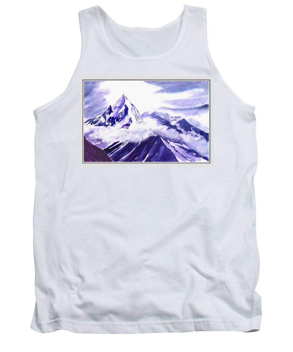 Landscape Tank Top featuring the painting Himalaya by Anil Nene