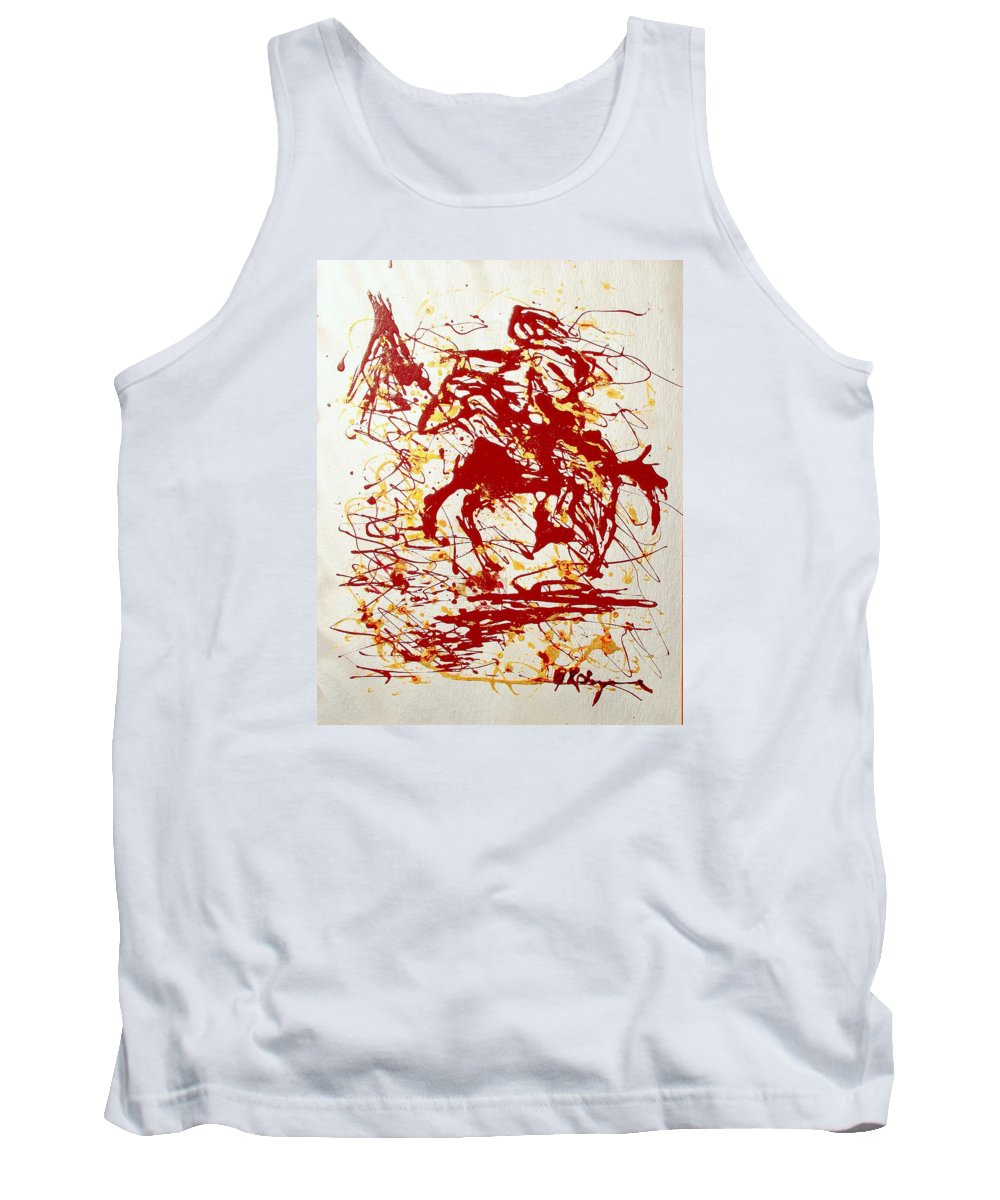Indian Tank Top featuring the painting History In Blood by J R Seymour