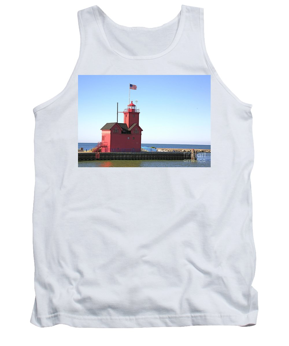 Light House Tank Top featuring the photograph Holland Mi-big Red by Robert Pearson