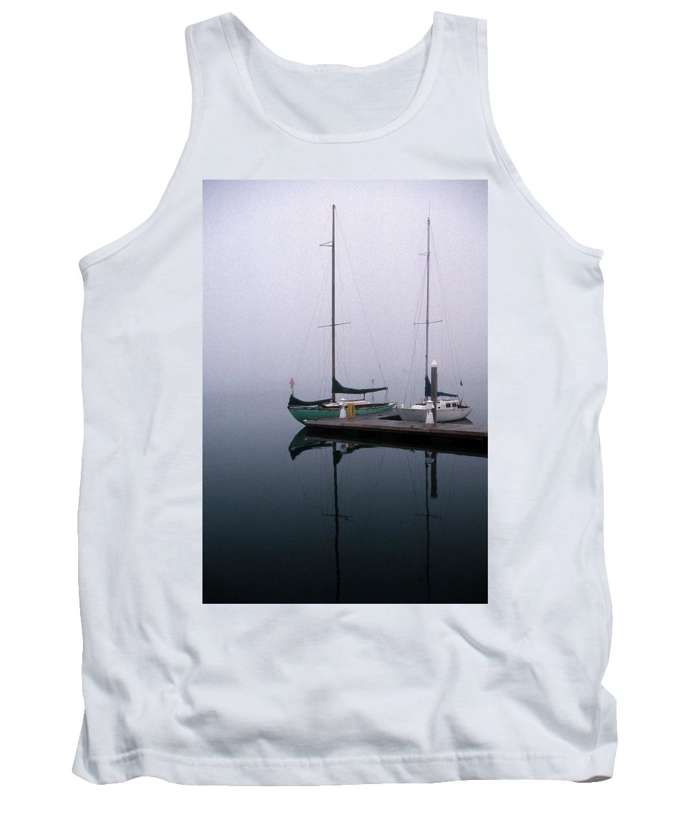 Marine Tank Top featuring the photograph Home Again by Skip Willits