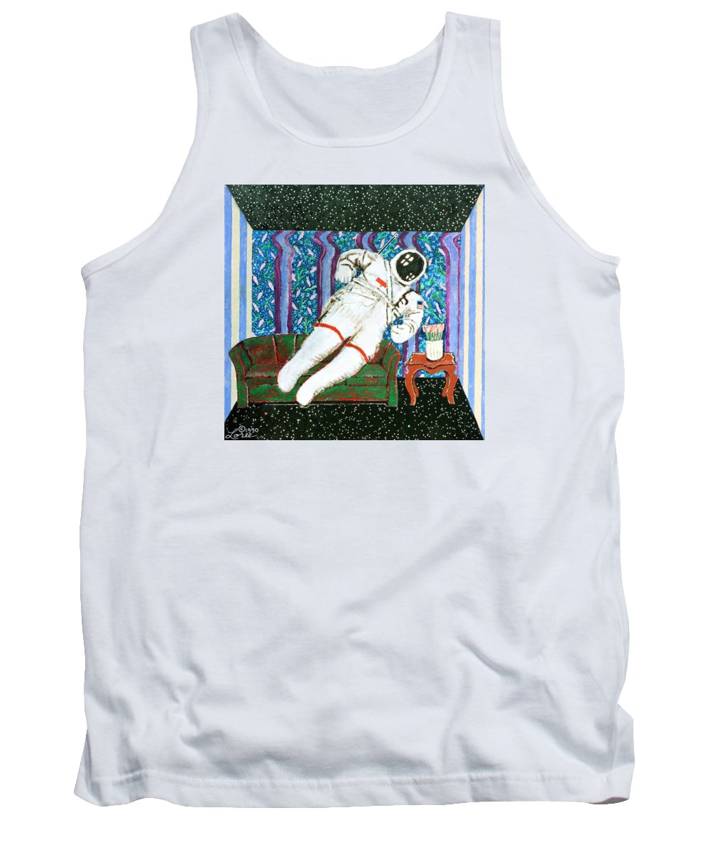 Astronaut Tank Top featuring the painting Homecoming by Sharron Loree