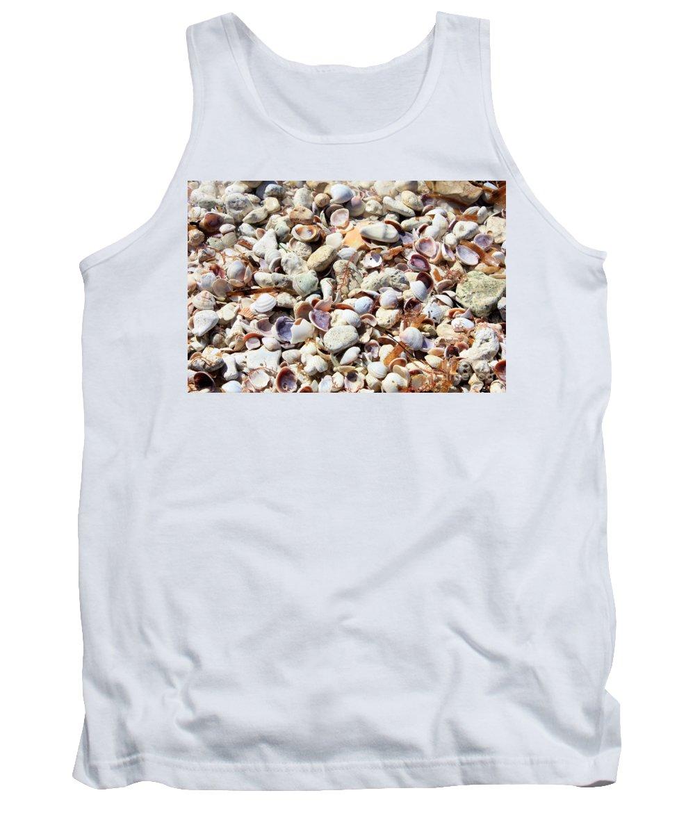 Shells Tank Top featuring the photograph Honeymoon Island Shells by Carol Groenen