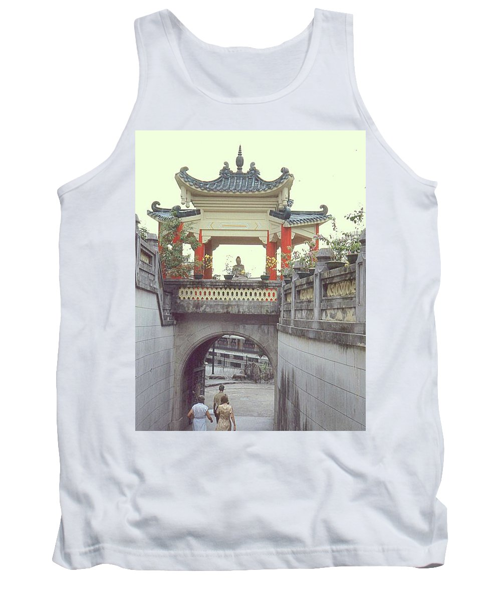 China Tank Top featuring the photograph Hong Kong Pagoda by Maro Kentros