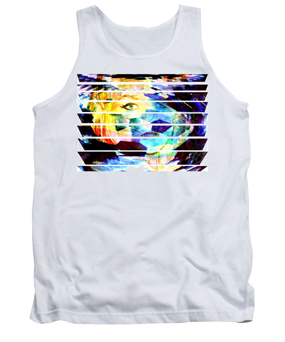 Woman Tank Top featuring the digital art Horizontal View by Seth Weaver
