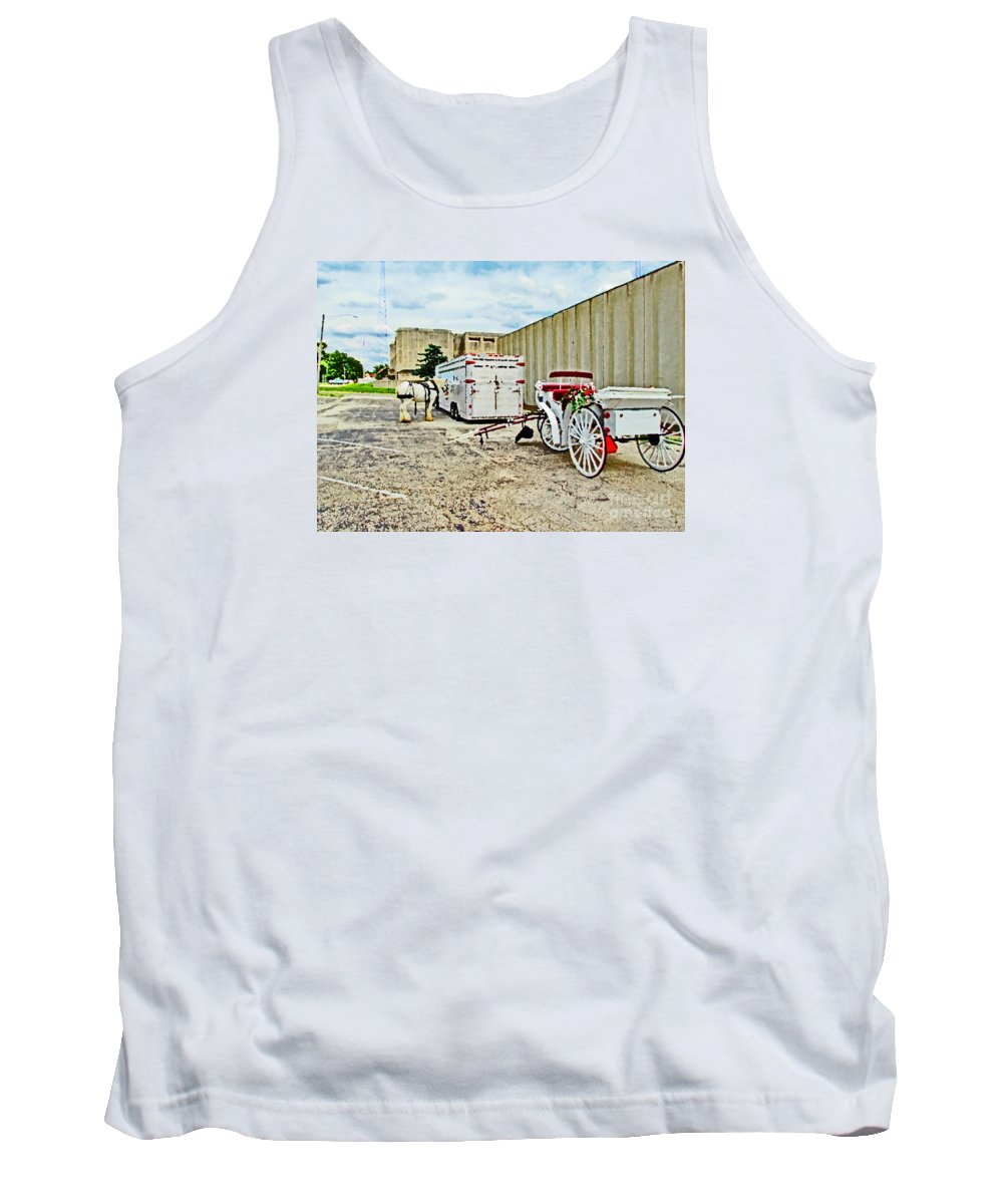 Horse Tank Top featuring the painting Horse And Buggie by Don Baker