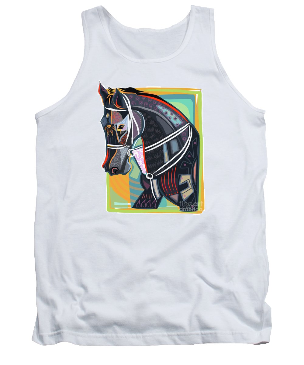 Equine Tank Top featuring the painting Horse Soul by Dania Sierra