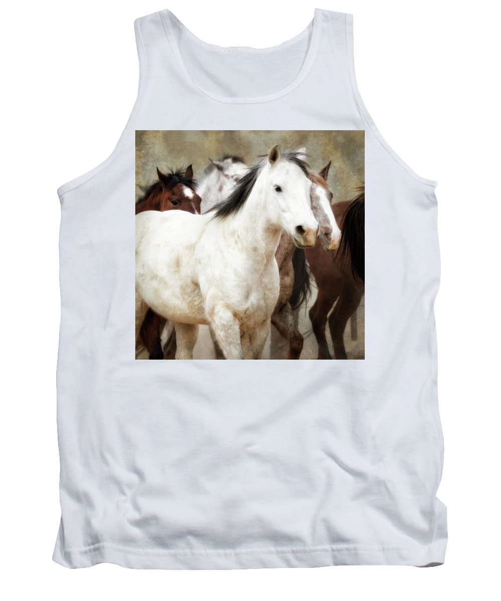 Horses Tank Top featuring the photograph Horses-01 by Susan Kordish