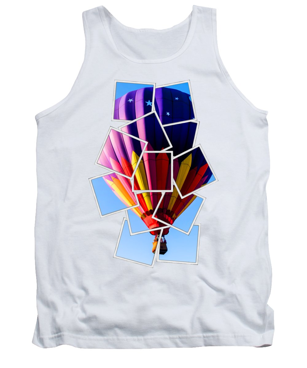 Tee Tank Top featuring the photograph Hot Air Ballooning Tee by Edward Fielding