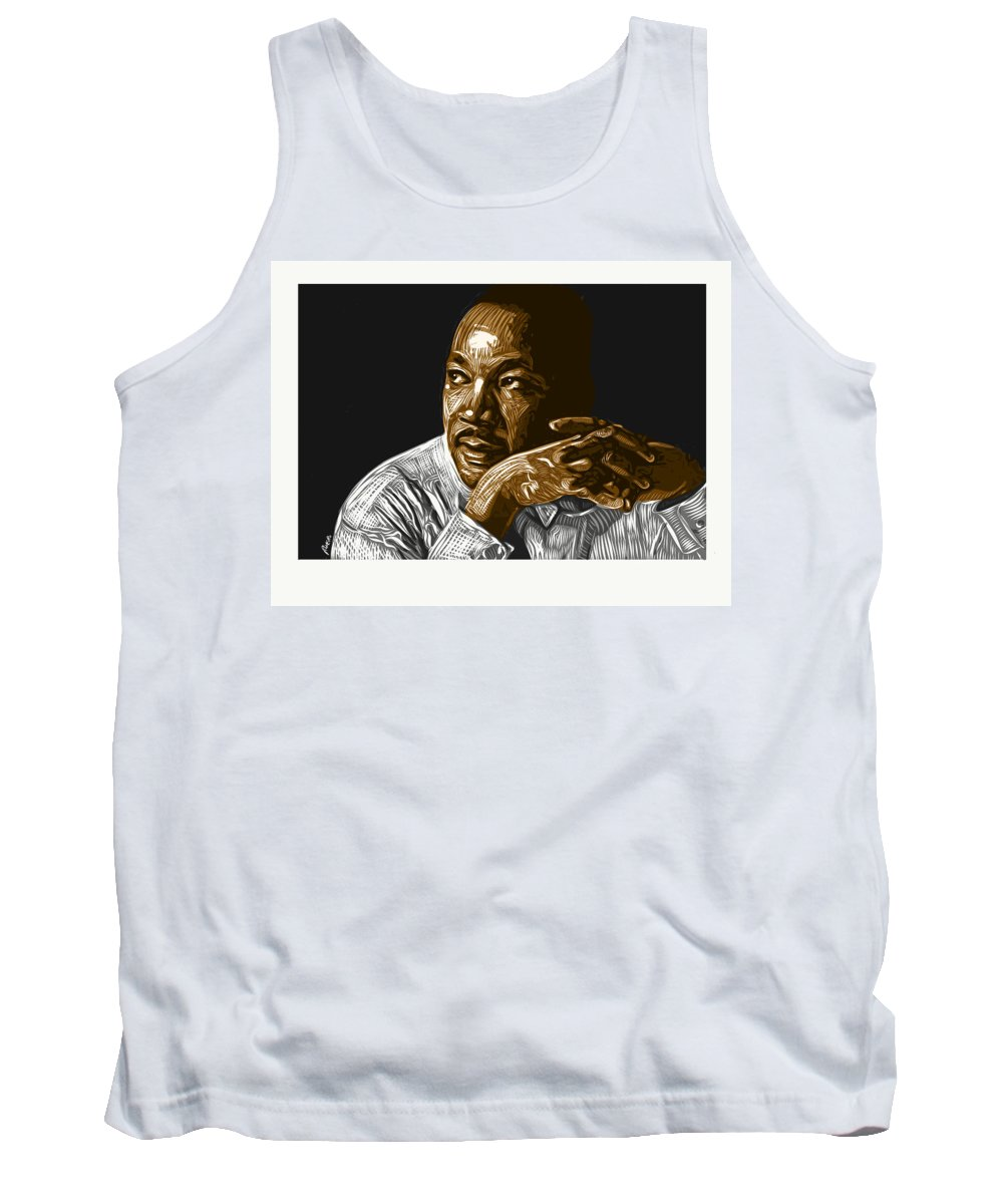 Dr. Martin Luther King Jr. Tank Top featuring the digital art I Have A Dream . . . by Antonio Romero