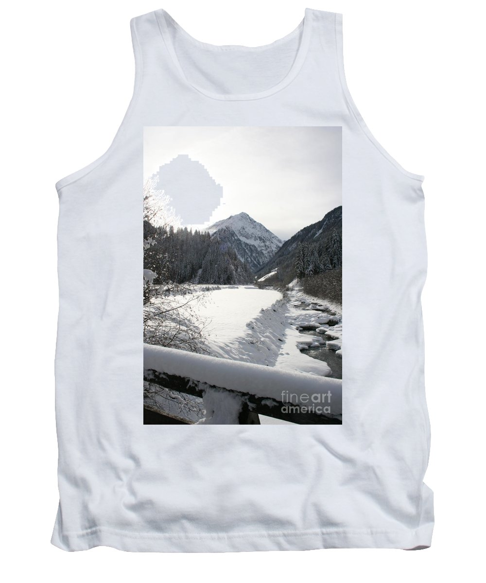 River Tank Top featuring the photograph Iced River by Christiane Schulze Art And Photography