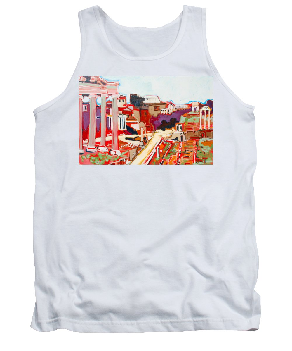 Rome Tank Top featuring the painting Il Foro Romano by Kurt Hausmann