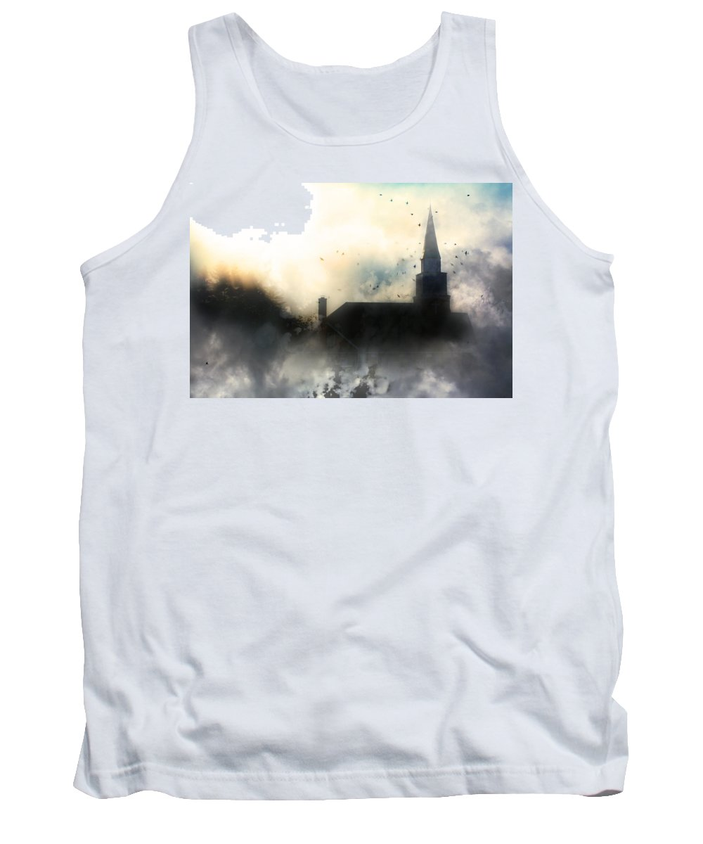 North Carolina Tank Top featuring the painting I'll Fly Away by Gray Artus
