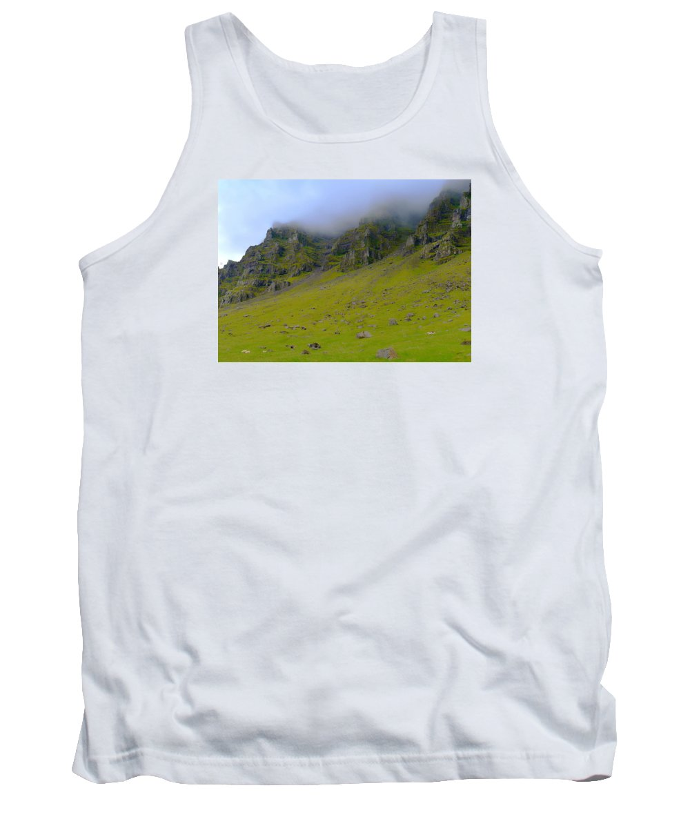 Clouds Tank Top featuring the photograph In The Clouds Near Patreksfjordur by Jeffrey Hamilton