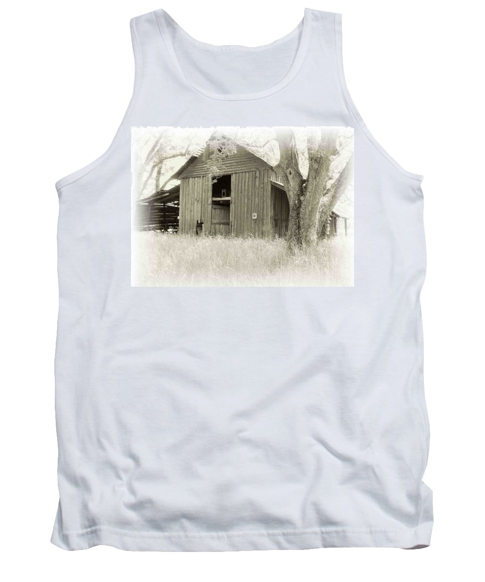 Barn Tank Top featuring the photograph In The Pecan Orchard by Nelson Strong