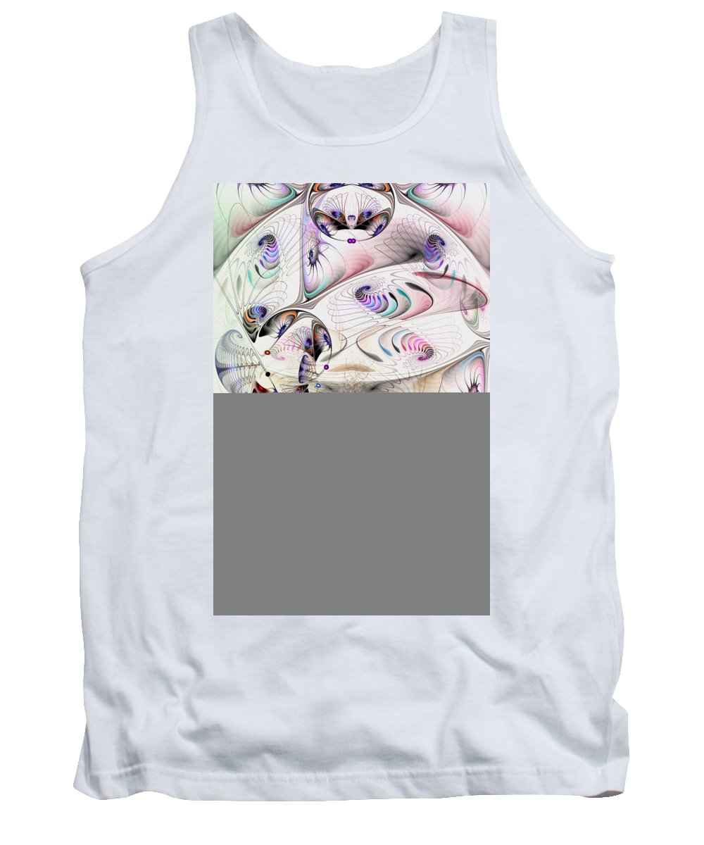 Abstract Tank Top featuring the digital art Inconceivable by Casey Kotas