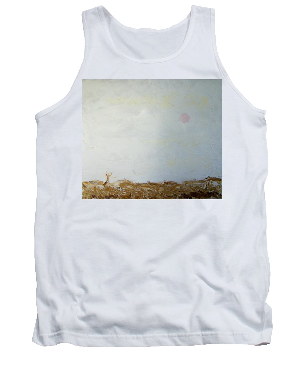 Abstract Tank Top featuring the painting Incredible Lightness Of Being by Lenore Senior