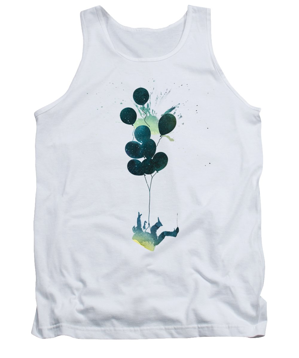 Astronaut Tank Top featuring the mixed media Infaltion Theory by Robert Farkas