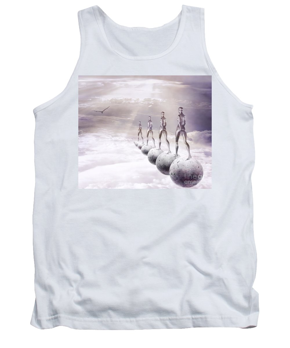 Surreal Tank Top featuring the digital art Infinity by Jacky Gerritsen
