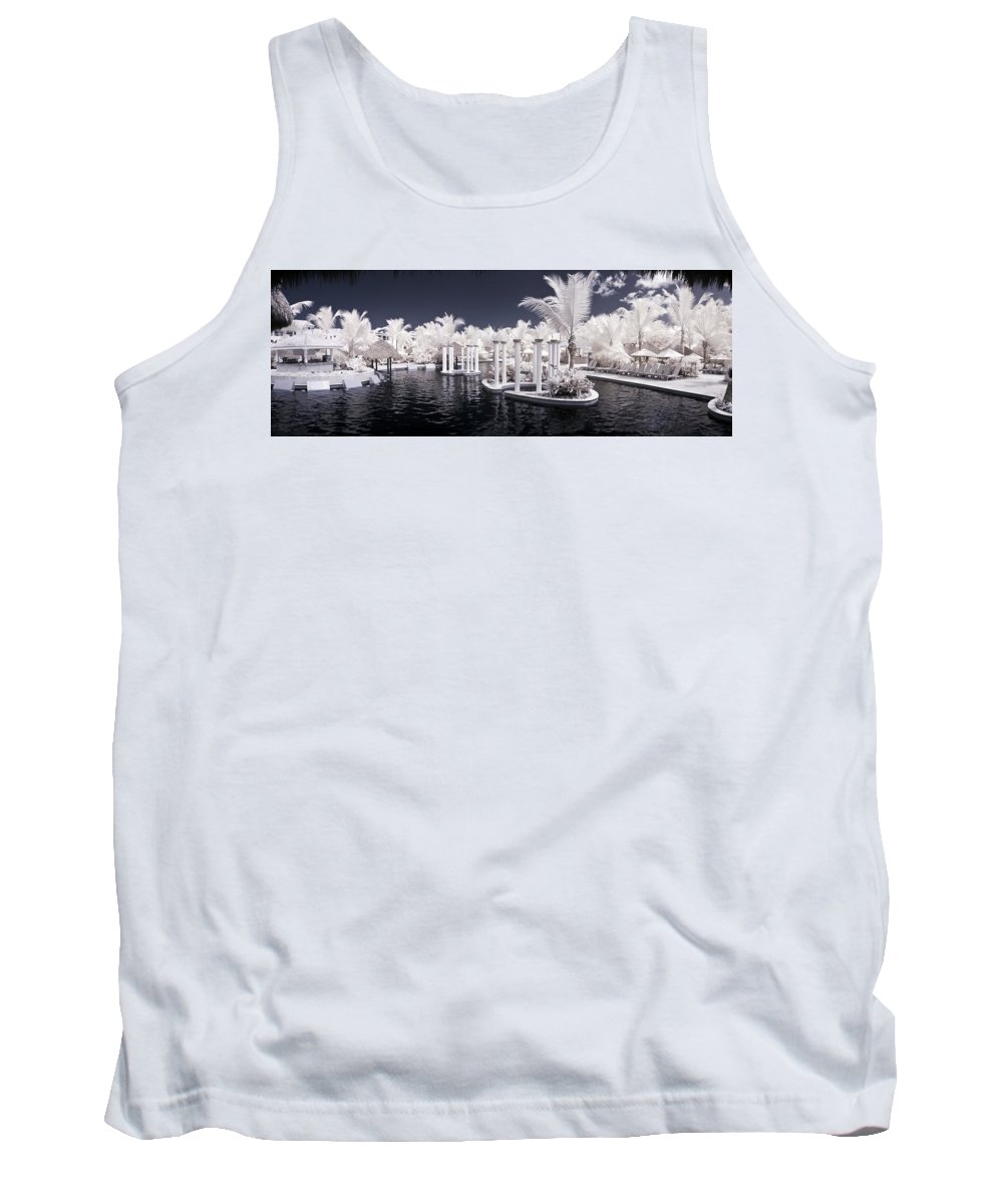 3scape Photos Tank Top featuring the photograph Infrared Pool by Adam Romanowicz